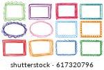 different designs of frames... | Shutterstock .eps vector #617320796