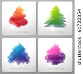 set of abstract shiny christmas ... | Shutterstock .eps vector #61732354