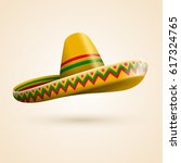 cinco de mayo hat. vector... | Shutterstock .eps vector #617324765