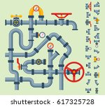 details pipes different types... | Shutterstock .eps vector #617325728