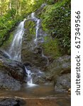 waterfall inside the brownsberg ... | Shutterstock . vector #617349566