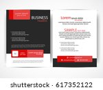 vector business flyer | Shutterstock .eps vector #617352122