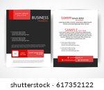 vector business flyer | Shutterstock .eps vector #617352122