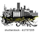 urban sketch | Shutterstock .eps vector #61737205