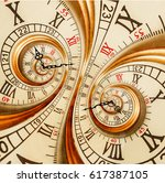 antique old clock abstract... | Shutterstock . vector #617387105