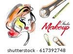 vector hand drawn illustration... | Shutterstock .eps vector #617392748