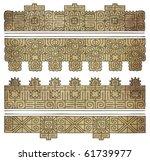 grunge american indian patterns ... | Shutterstock . vector #61739977
