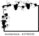 black frame with vine leaves | Shutterstock .eps vector #61740133
