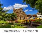 nessebar  bulgaria  july 19 ... | Shutterstock . vector #617401478