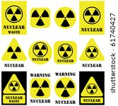 nuclear vector set isolated on... | Shutterstock .eps vector #61740427