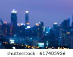 twilight blurred bokeh central... | Shutterstock . vector #617405936