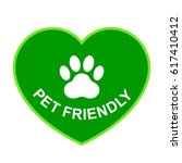 pets allowed  pet friendly... | Shutterstock .eps vector #617410412