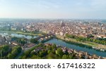 aerial view of pavia and the... | Shutterstock . vector #617416322