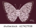 illustration of butterfly in...   Shutterstock .eps vector #617427938