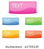 blank vector web button pocket | Shutterstock .eps vector #61743139