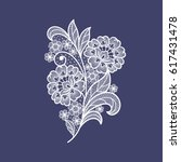 lace flowers decoration element | Shutterstock .eps vector #617431478