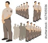 police security guard vector...   Shutterstock .eps vector #617435036