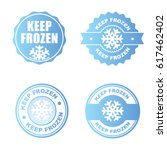 blue set of keep frozen product ... | Shutterstock .eps vector #617462402
