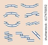 vector set of scrolled isolated ... | Shutterstock .eps vector #617470052