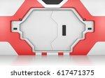 futuristic metallic door  gate... | Shutterstock . vector #617471375