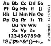 set of black cracked alphabet... | Shutterstock .eps vector #617475815