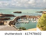 boats are safely tucked for a... | Shutterstock . vector #617478602