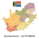 south africa map and flag  ... | Shutterstock .eps vector #617478836