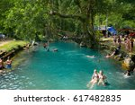 vang vieng  laos   may 11  2016 ... | Shutterstock . vector #617482835