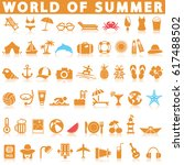 summer icon set | Shutterstock .eps vector #617488502