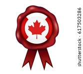 canadian wax seal | Shutterstock .eps vector #617503286