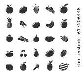 set of gray fruit icons... | Shutterstock .eps vector #617506448