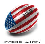 american flag painted in rugby... | Shutterstock . vector #617510048