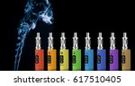 eight multicolored electronic... | Shutterstock . vector #617510405