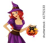 witch isolated | Shutterstock .eps vector #61752133