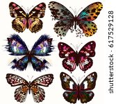collection of vector realistic... | Shutterstock .eps vector #617529128
