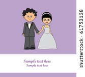 wedding card | Shutterstock .eps vector #61753138