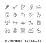 simple set of plumber related... | Shutterstock .eps vector #617531756