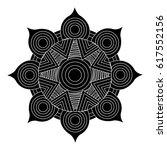 mandala art isolated icon | Shutterstock .eps vector #617552156