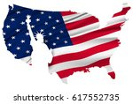America Map National Flag...