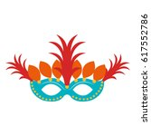 carnival mask isolated icon | Shutterstock .eps vector #617552786