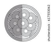mandala art isolated icon | Shutterstock .eps vector #617553062