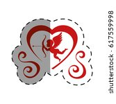 love card with cupid angel | Shutterstock .eps vector #617559998