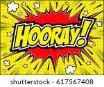 hooray lettering.hooray card... | Shutterstock .eps vector #617567408