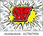 great job lettering.great job... | Shutterstock .eps vector #617567456