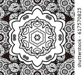 seamless vintage pattern on... | Shutterstock .eps vector #617570825