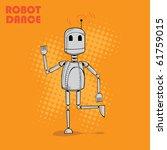 cute robot vector | Shutterstock .eps vector #61759015