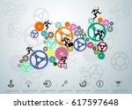 businessman driven cog   modern ... | Shutterstock .eps vector #617597648