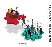 business job vacancy isometric   Shutterstock .eps vector #617601458