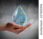 infected water and waterborne... | Shutterstock . vector #617603336