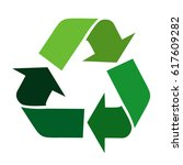 vector recycle signs | Shutterstock .eps vector #617609282